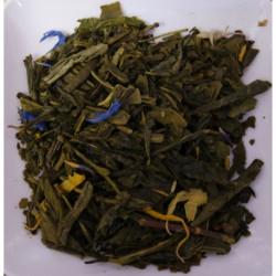 Thé vert Sencha Earl Grey avec des fleur